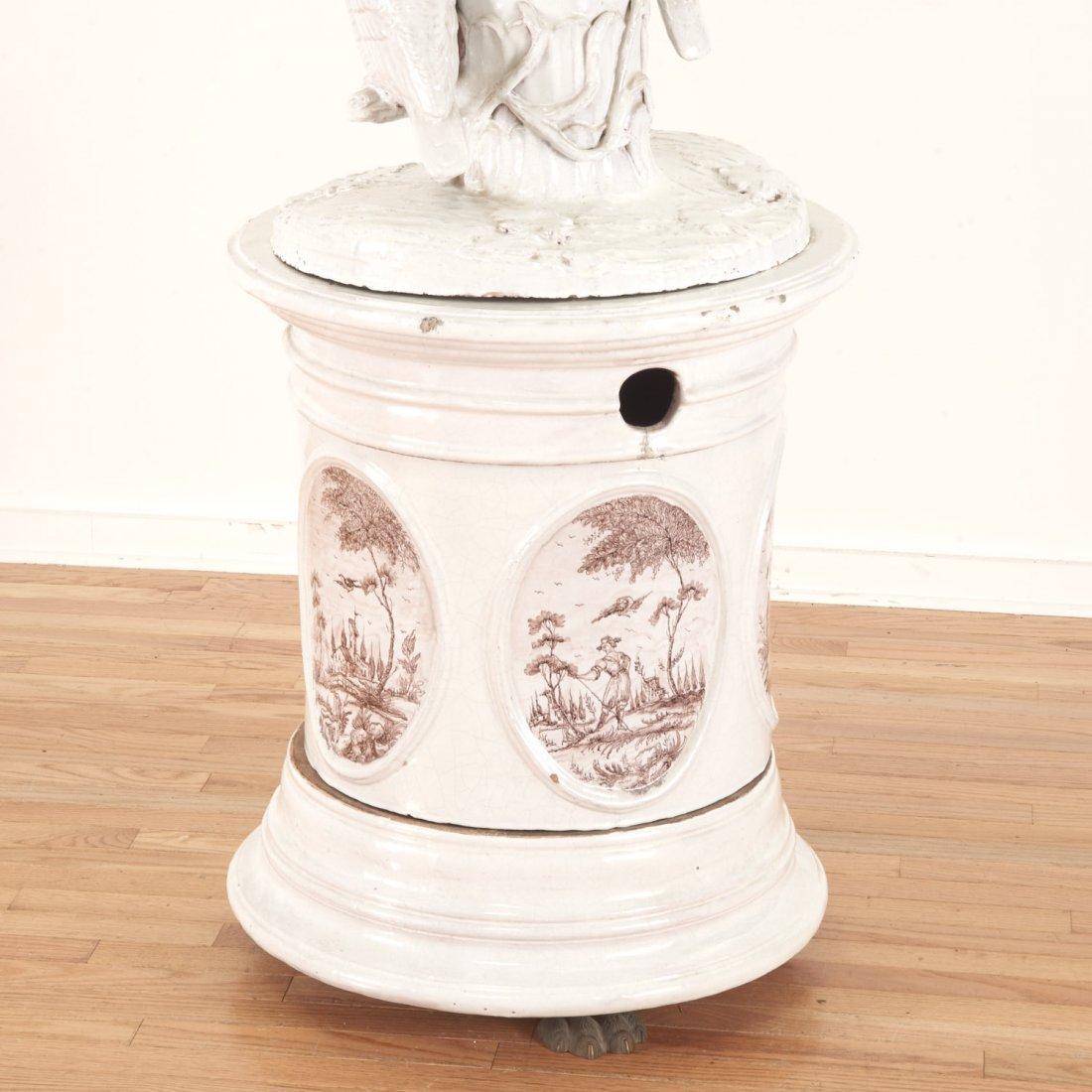 "Continental faience ceramic ""Kachelofen"" stove - 8"