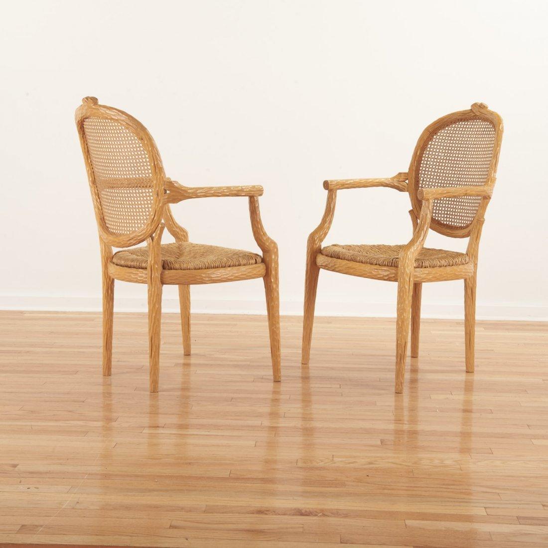 Set (4) Italian faux bois armchairs - 2