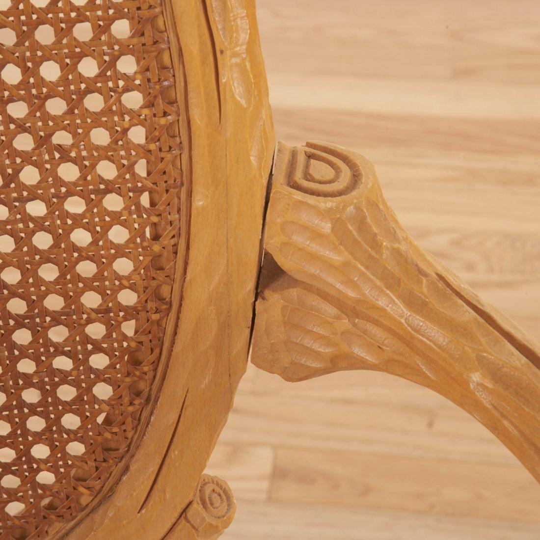 Set (4) Italian faux bois armchairs - 3