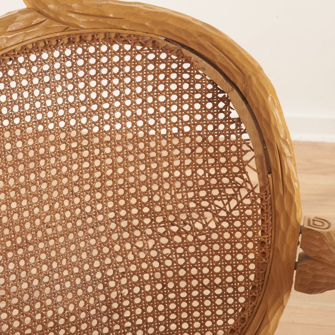 Set (4) Italian faux bois armchairs - 4