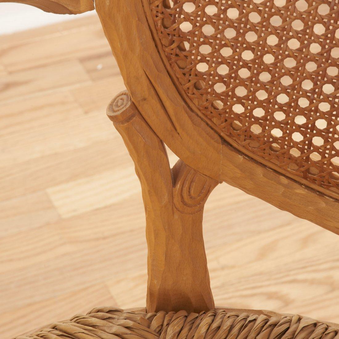 Set (4) Italian faux bois armchairs - 5