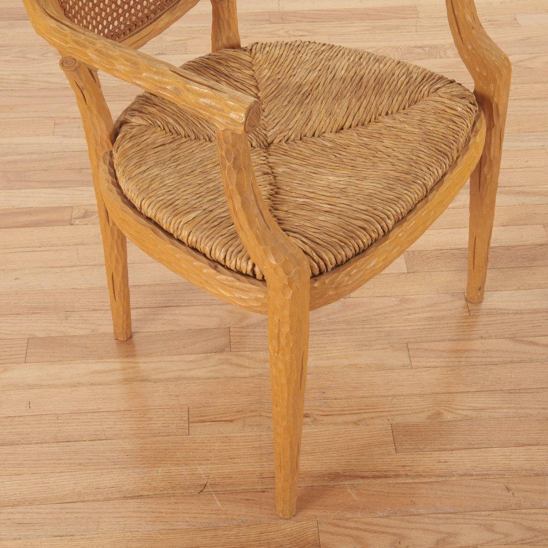 Set (4) Italian faux bois armchairs - 7