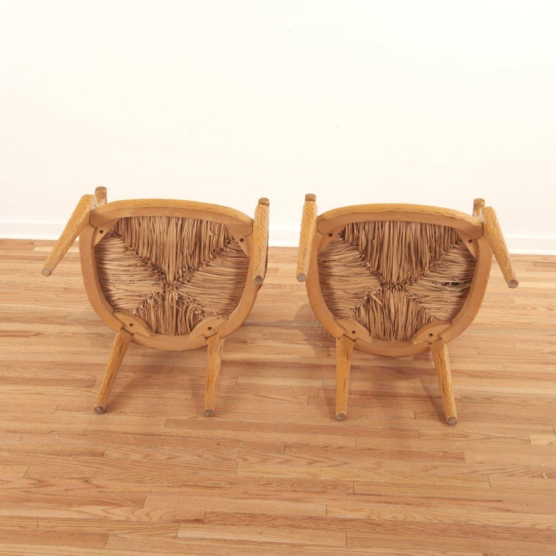 Set (4) Italian faux bois armchairs - 8