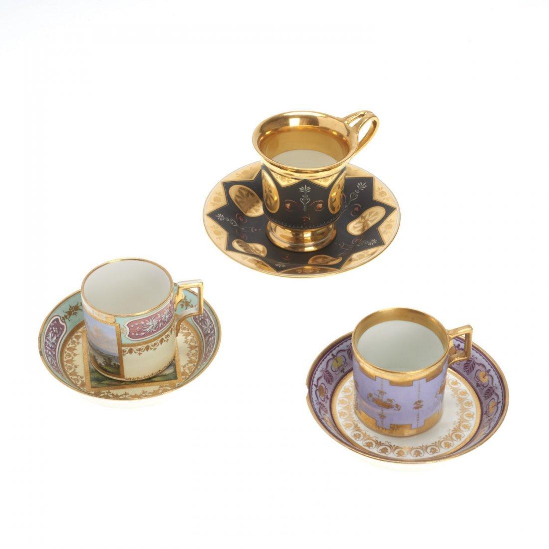 (3) Royal Vienna porcelain teacups/saucers - 2