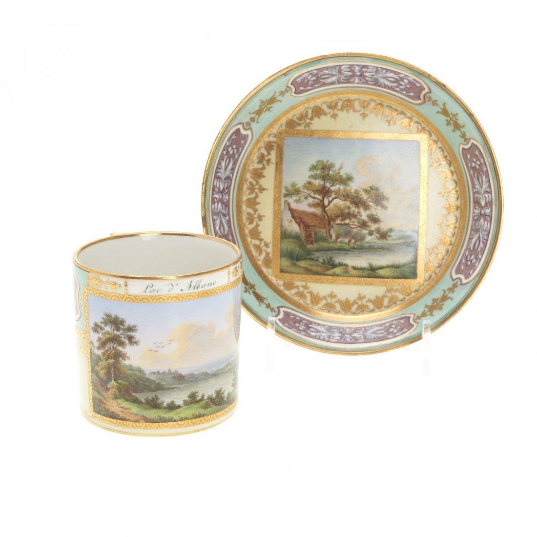 (3) Royal Vienna porcelain teacups/saucers - 3