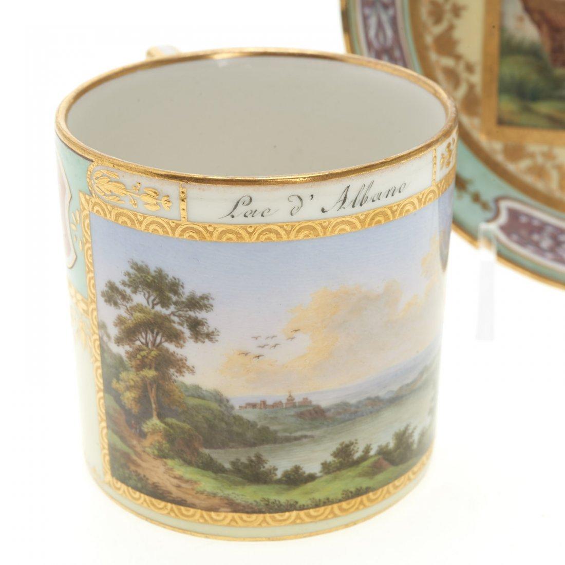 (3) Royal Vienna porcelain teacups/saucers - 4