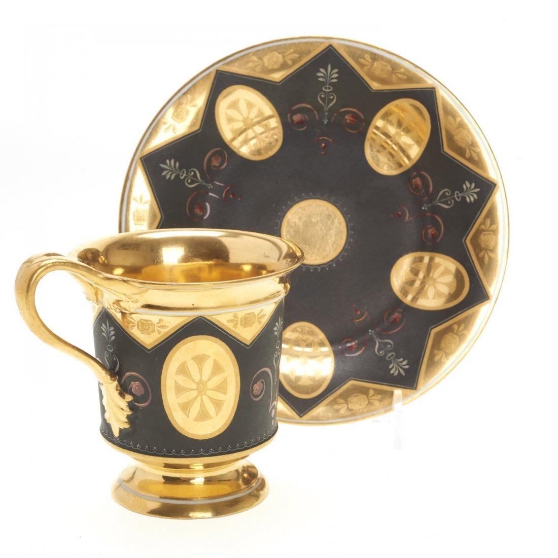 (3) Royal Vienna porcelain teacups/saucers - 6