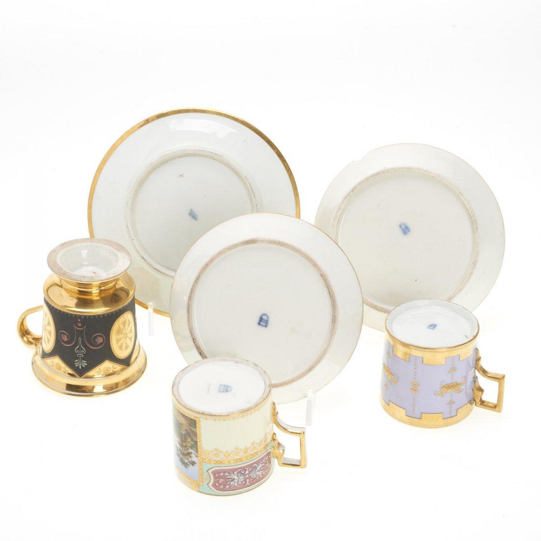(3) Royal Vienna porcelain teacups/saucers - 8