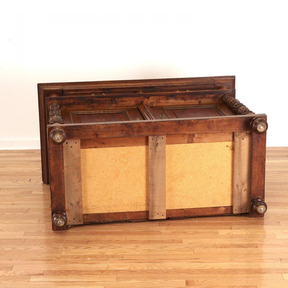 German Jacobean style mahogany bookcase cabinet - 10