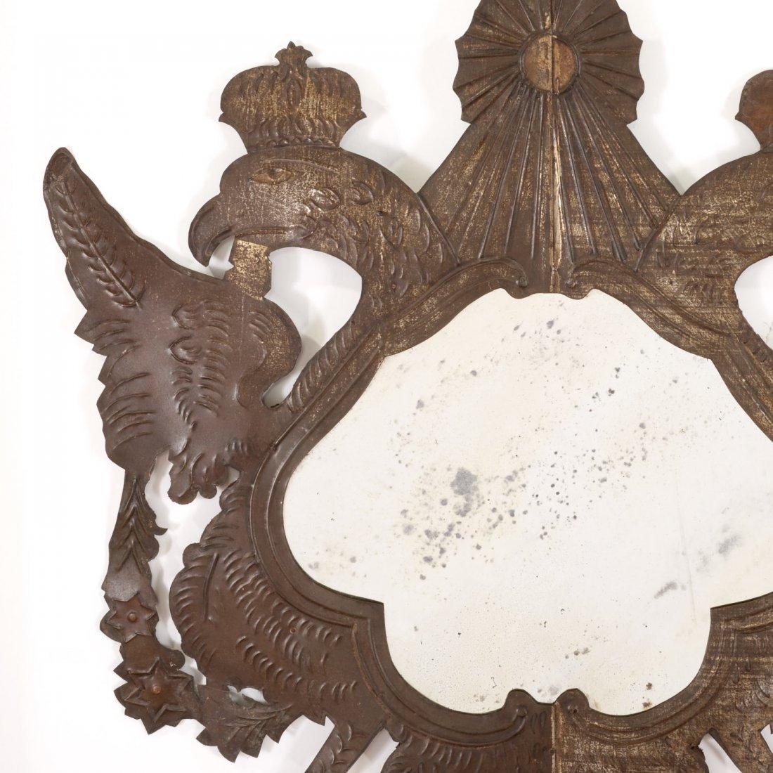 Pr Spanish Colonial style gilt metal wall mirrors - 2