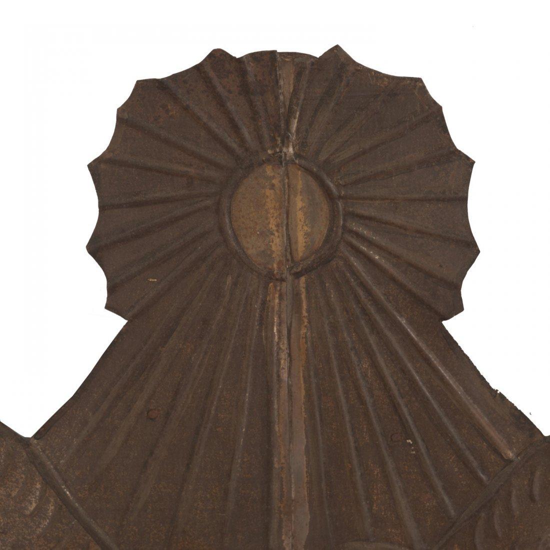 Pr Spanish Colonial style gilt metal wall mirrors - 4