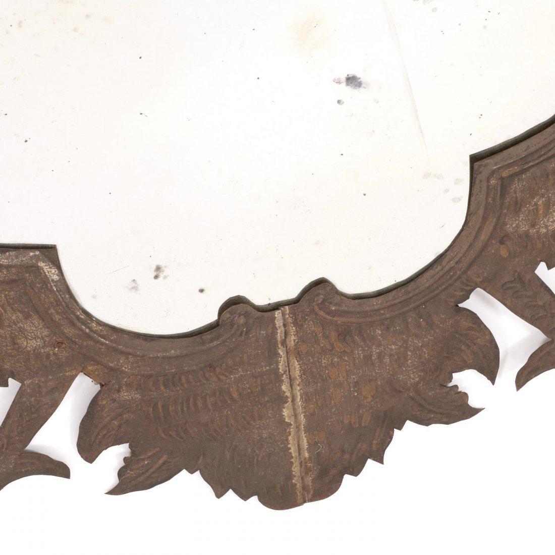 Pr Spanish Colonial style gilt metal wall mirrors - 6