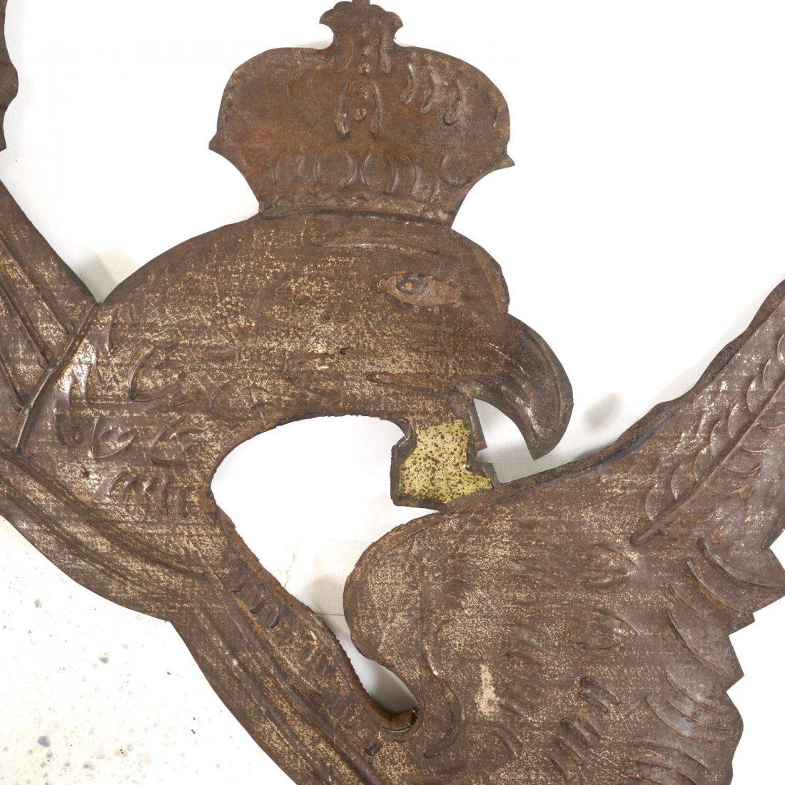 Pr Spanish Colonial style gilt metal wall mirrors - 8