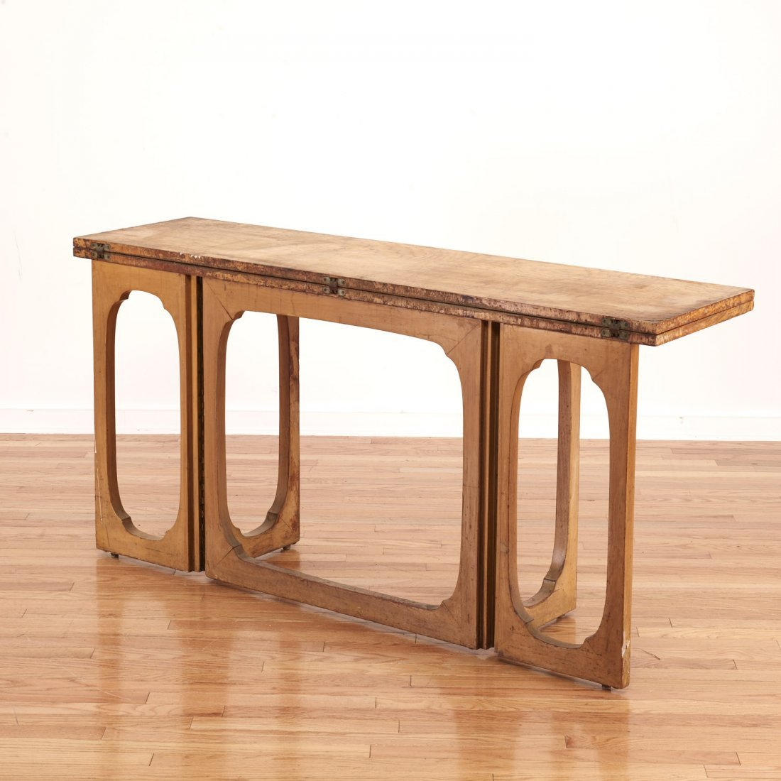 Johan Tapp convertible burl wood console/table - 3