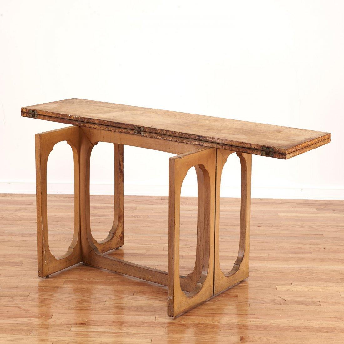 Johan Tapp convertible burl wood console/table - 4
