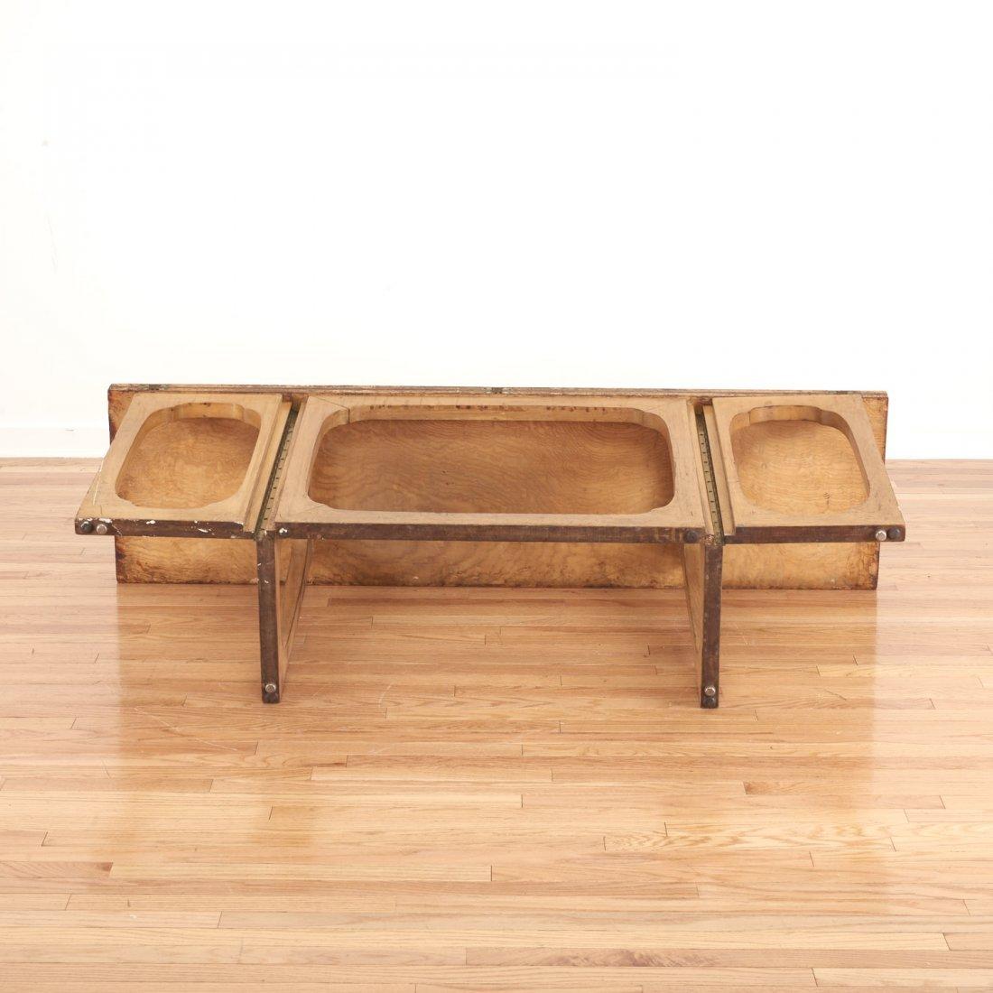 Johan Tapp convertible burl wood console/table - 8