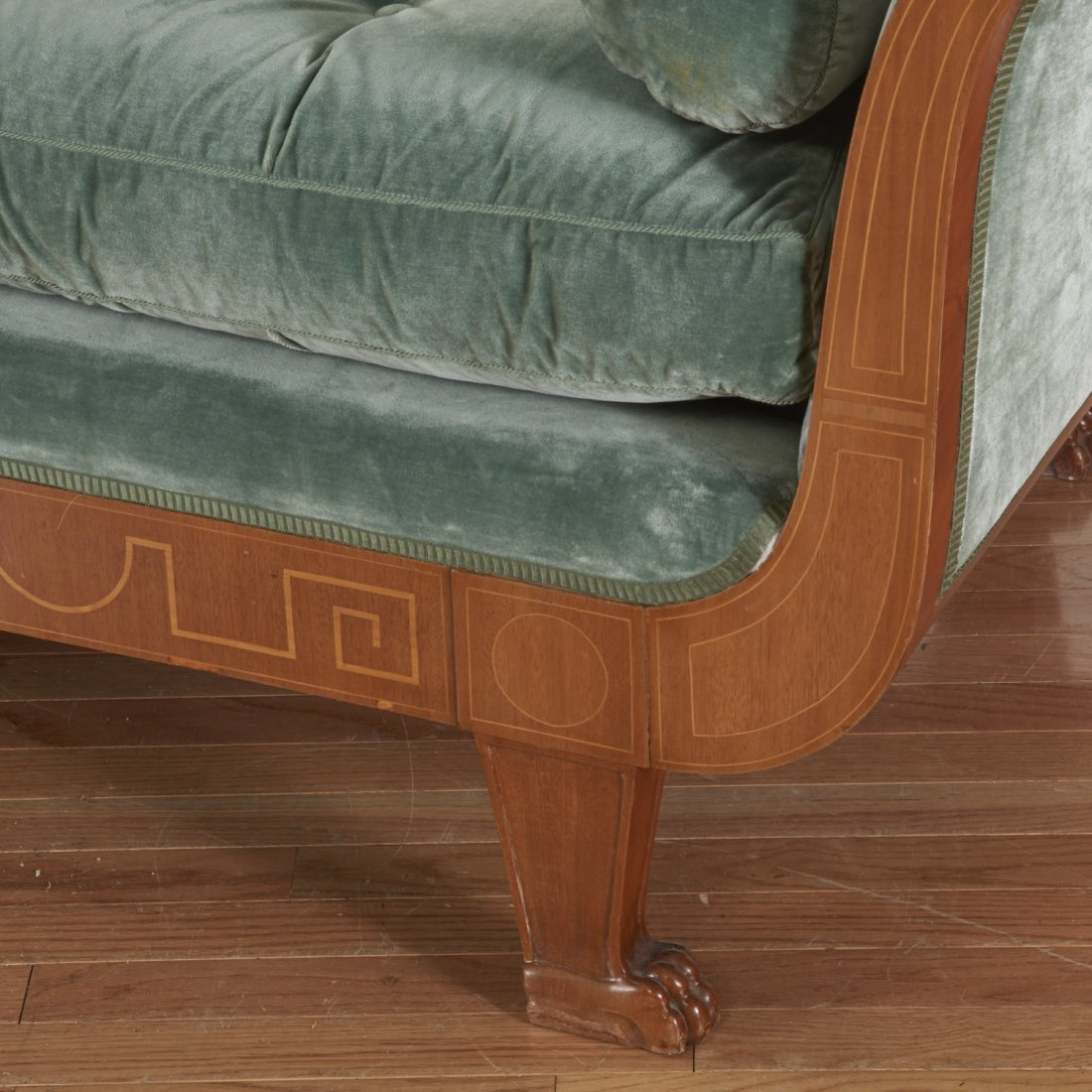 Swedish Neo-Classical inlaid fruitwood recamier - 4