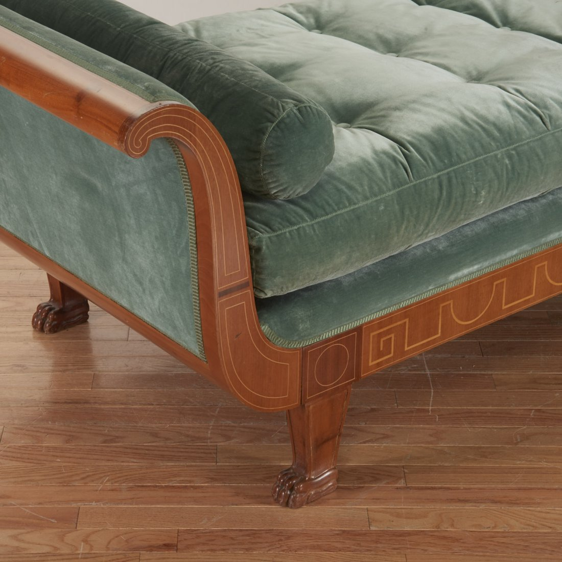 Swedish Neo-Classical inlaid fruitwood recamier - 5