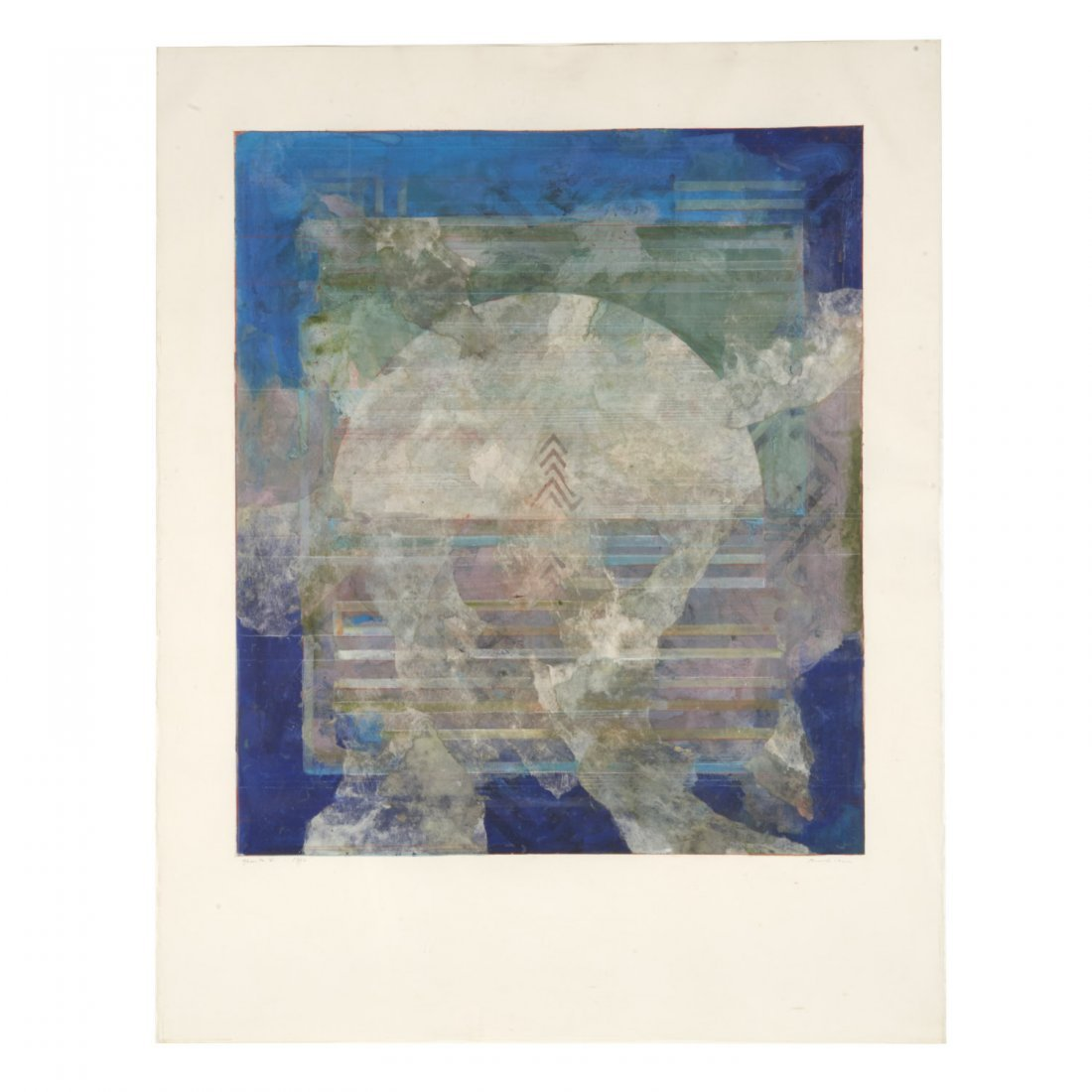 Robert Kelly, large collage monoprint