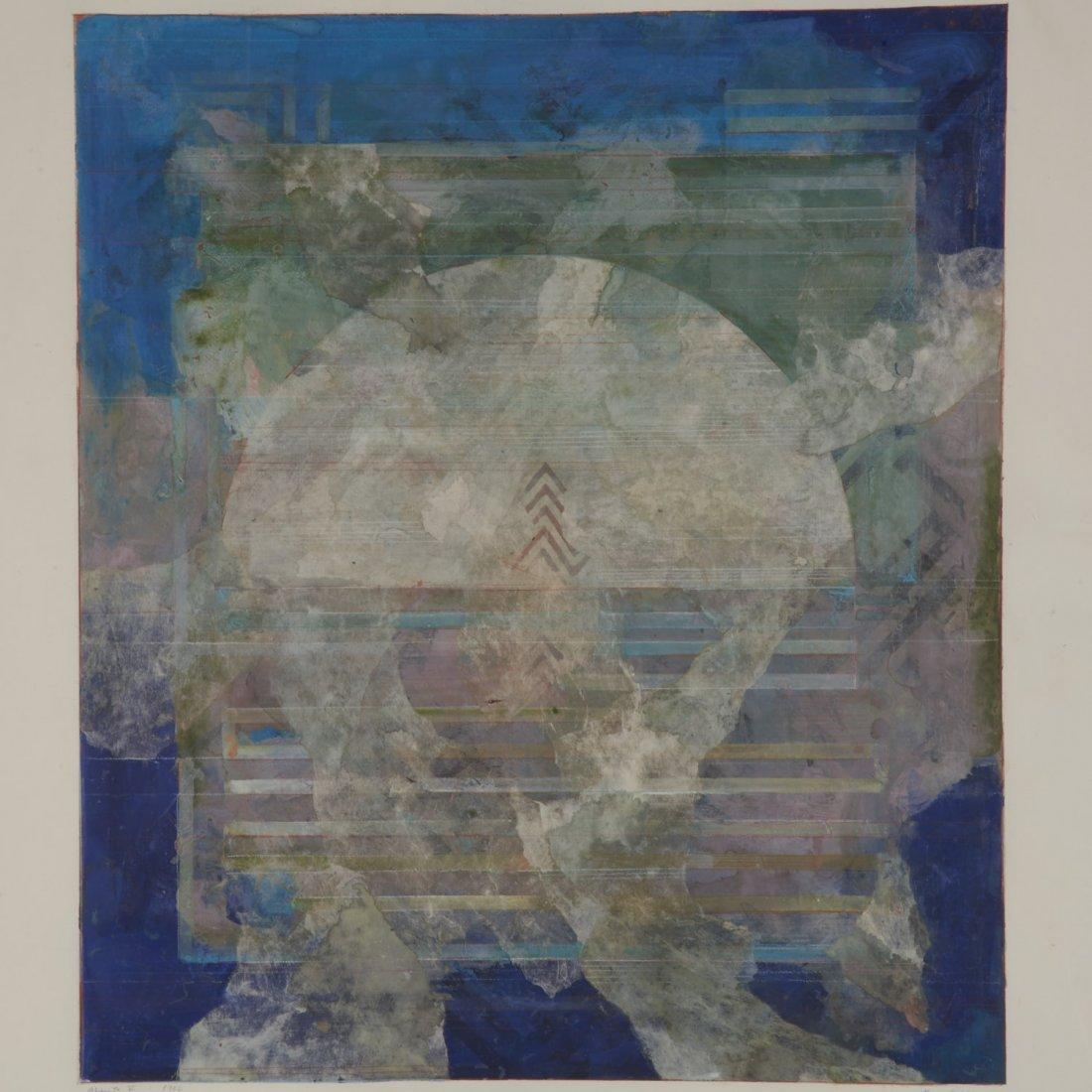 Robert Kelly, large collage monoprint - 2