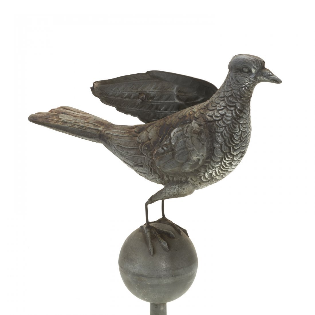 Antique American zinc dove weatherwane - 3