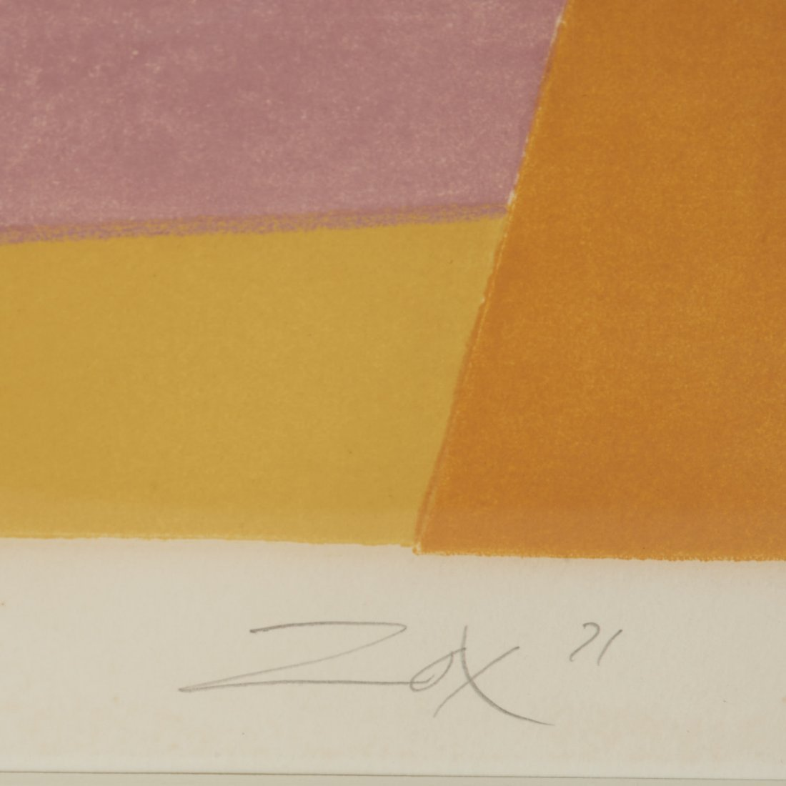 Larry Zox, signed serigraph - 4