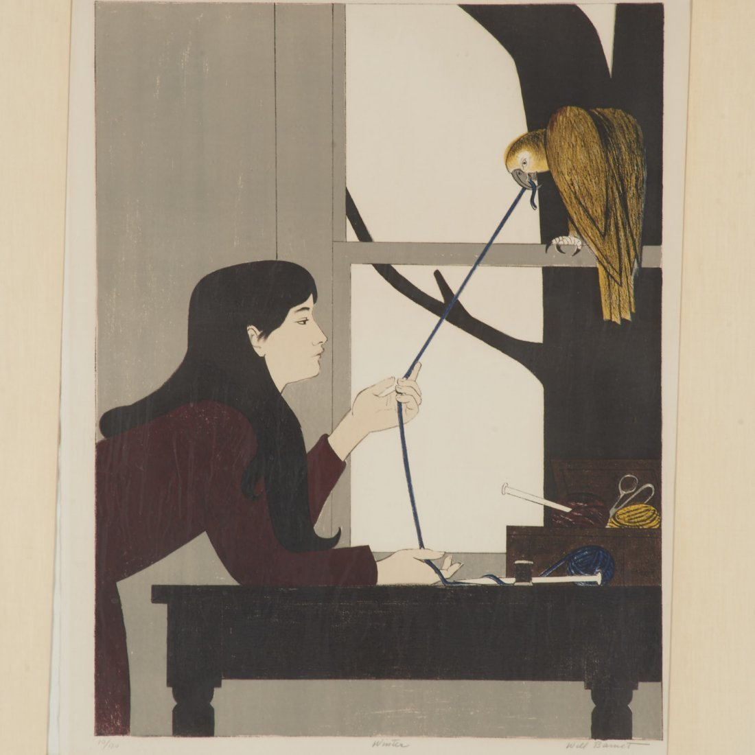 Will Barnet, signed color lithograph - 2