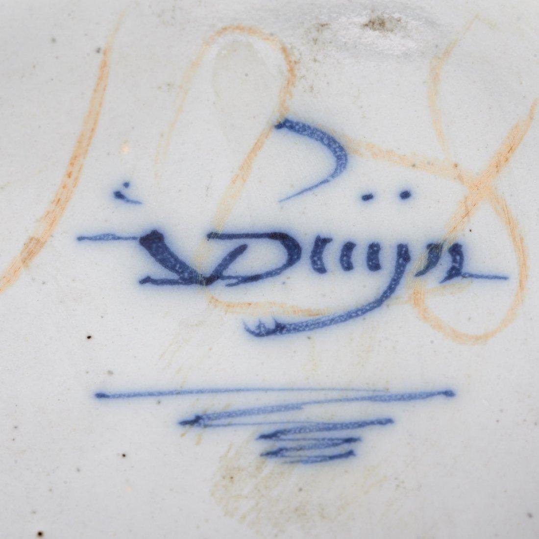 Delft (3) piece garniture signed Johannes Van Duyn - 9