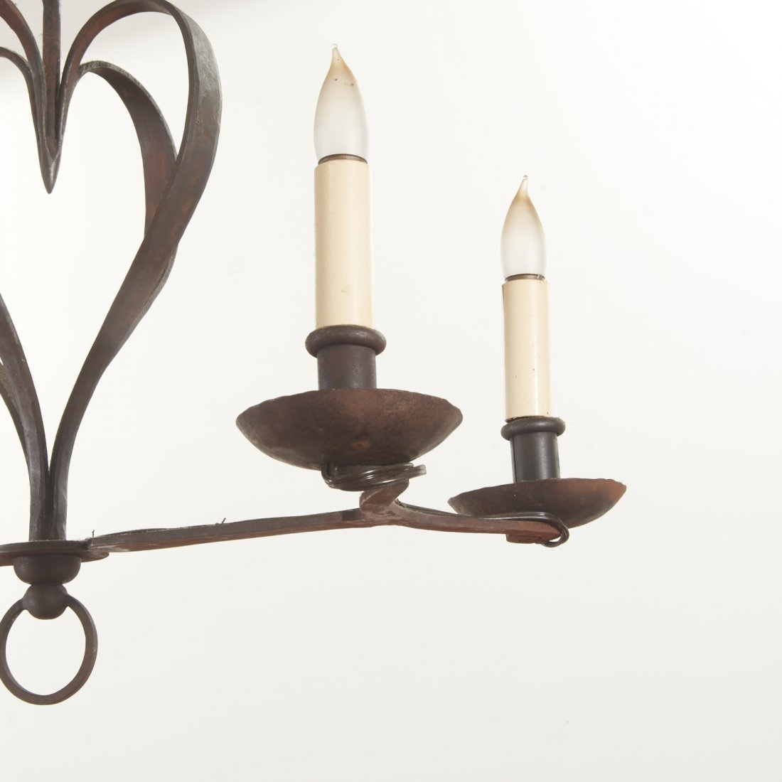 French Provincial style wrought iron chandelier - 3