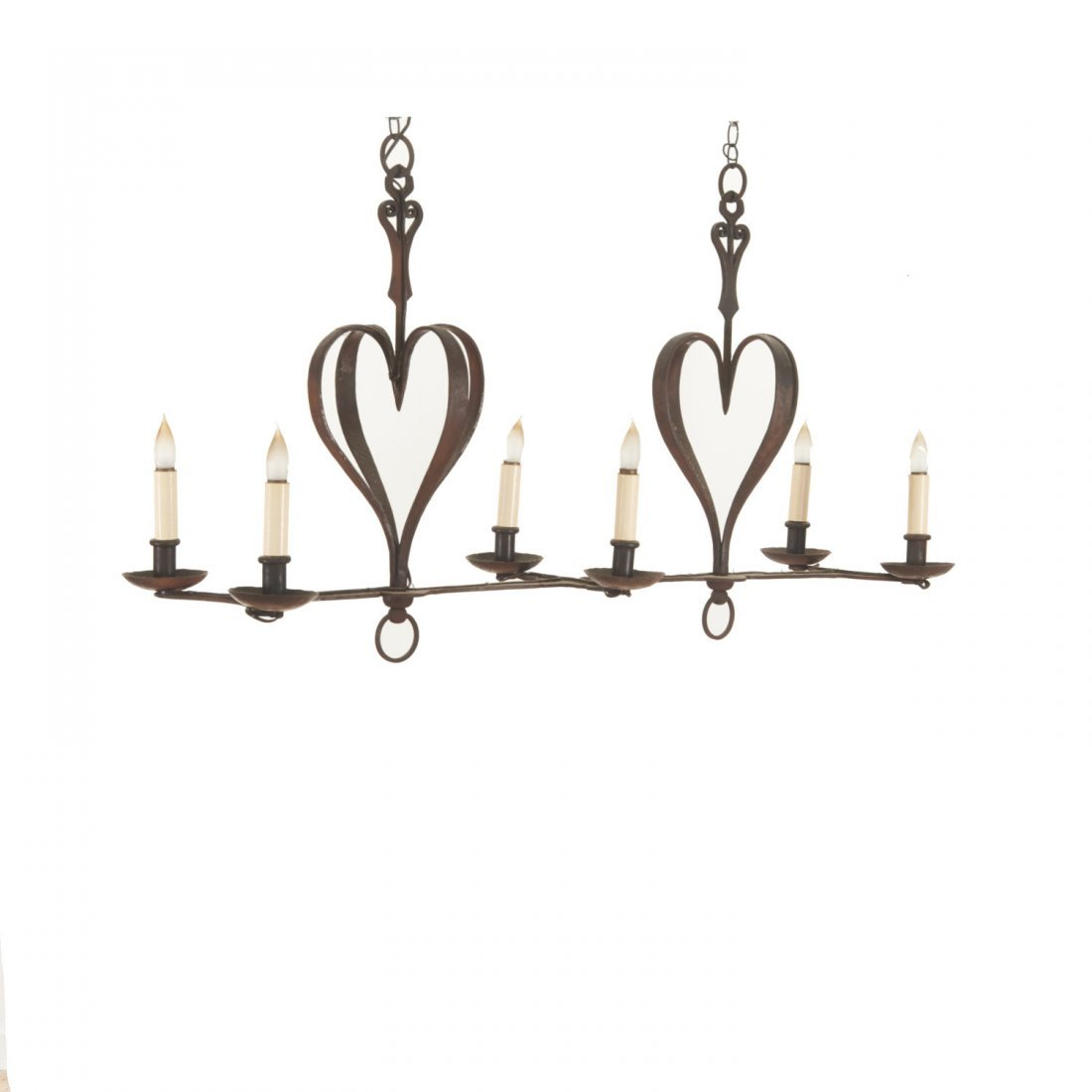 French Provincial style wrought iron chandelier - 4