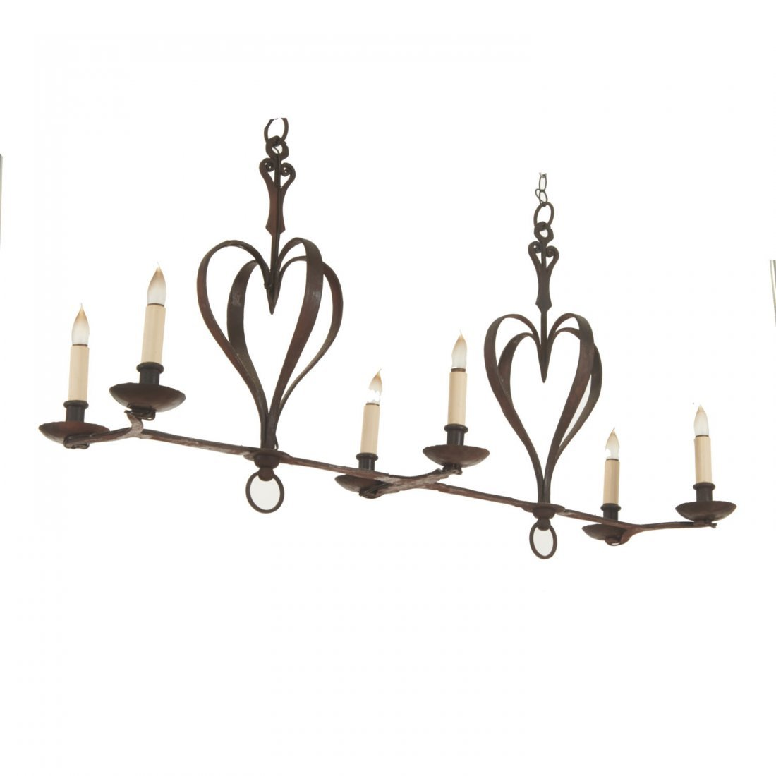 French Provincial style wrought iron chandelier - 5