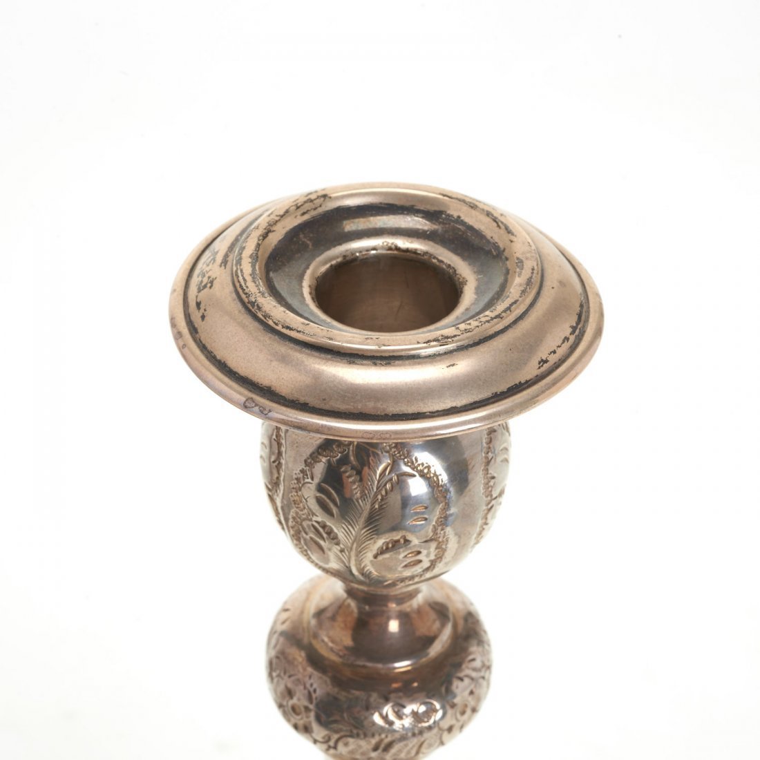 Nice pair Russian silver candlesticks - 4