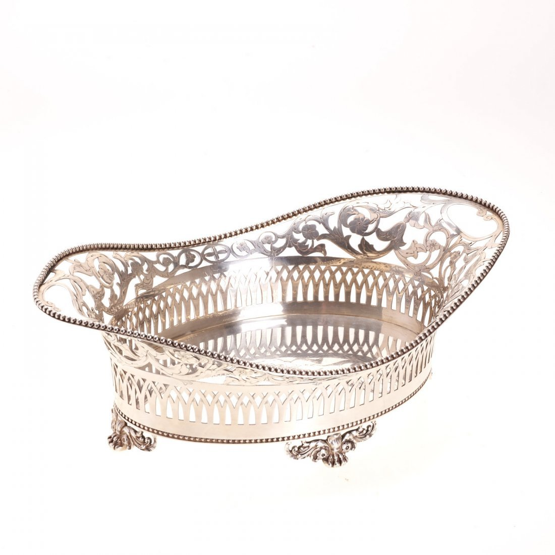 Tiffany & Co. reticulated sterling silver basket