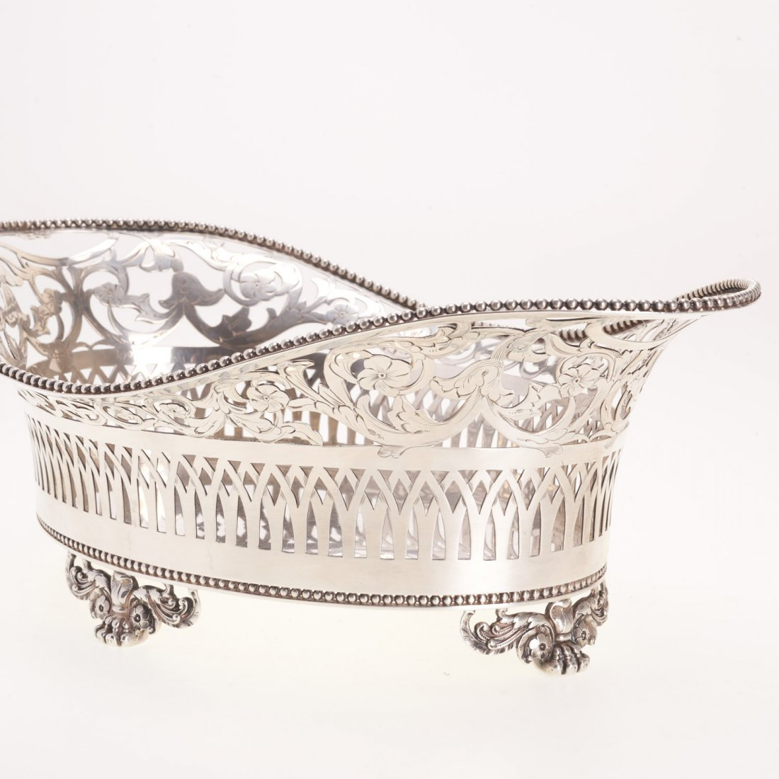 Tiffany & Co. reticulated sterling silver basket - 3