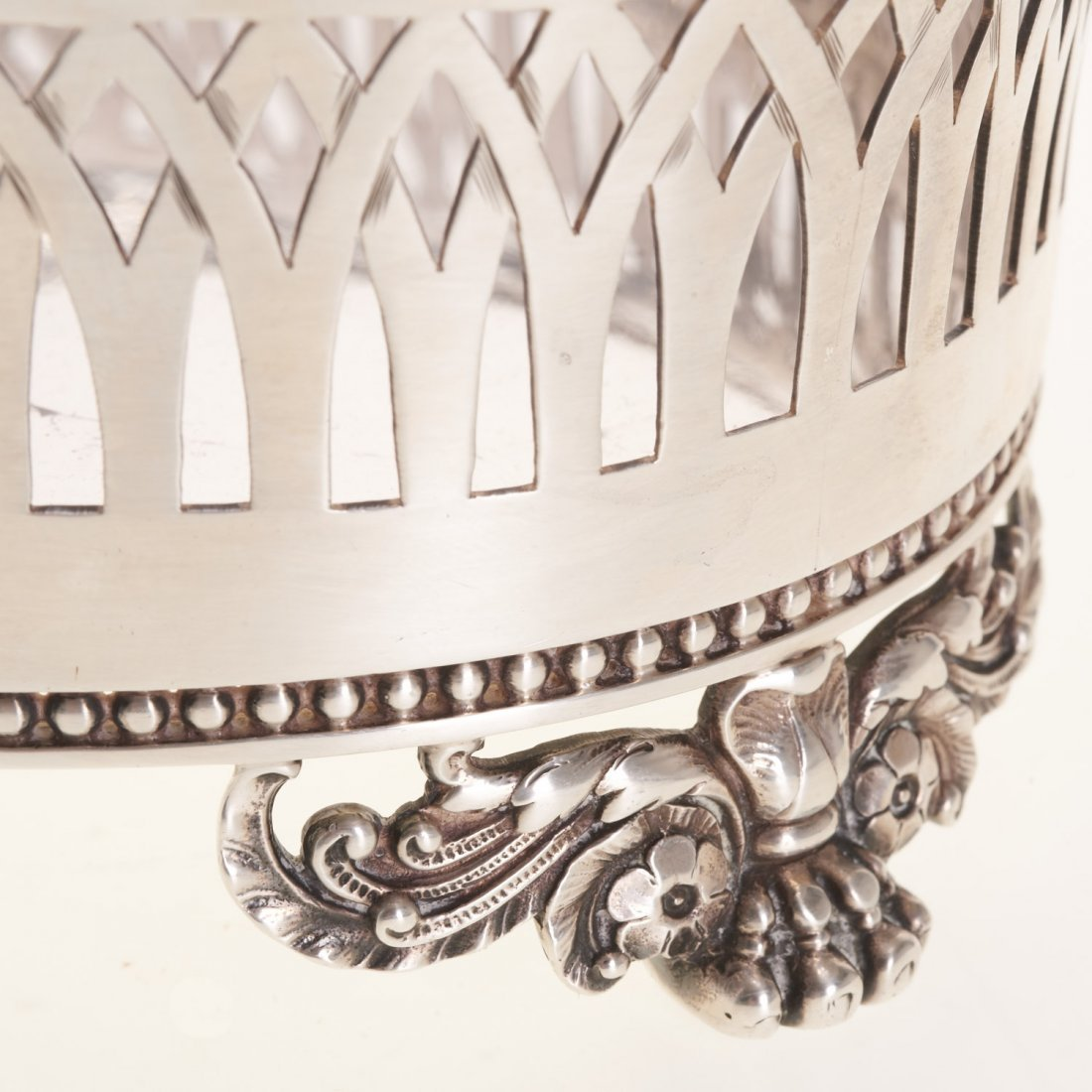Tiffany & Co. reticulated sterling silver basket - 4