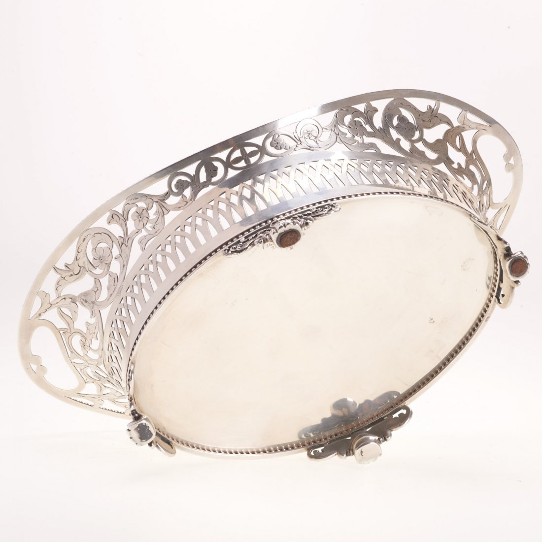 Tiffany & Co. reticulated sterling silver basket - 5