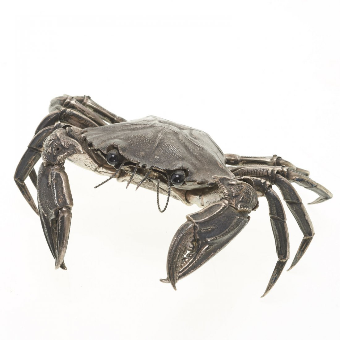 Spanish silver articulated model of a crab