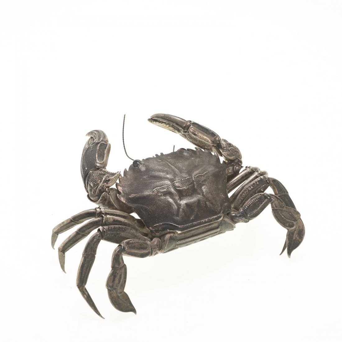 Spanish silver articulated model of a crab - 3