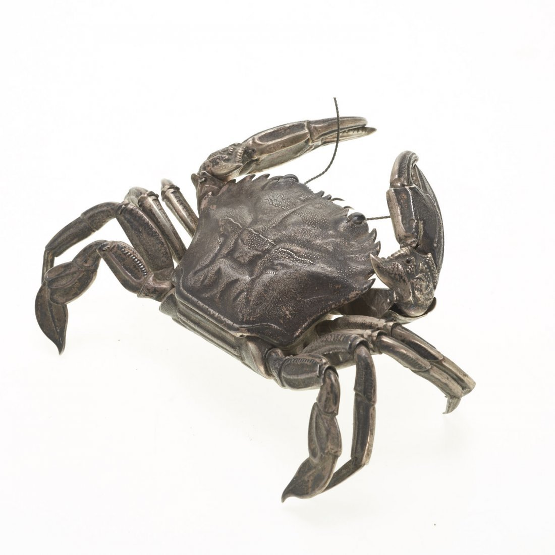 Spanish silver articulated model of a crab - 4