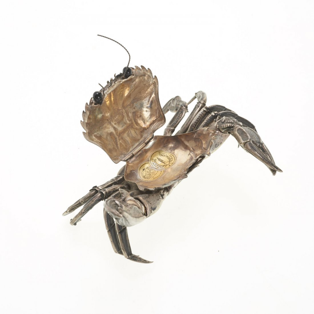 Spanish silver articulated model of a crab - 5