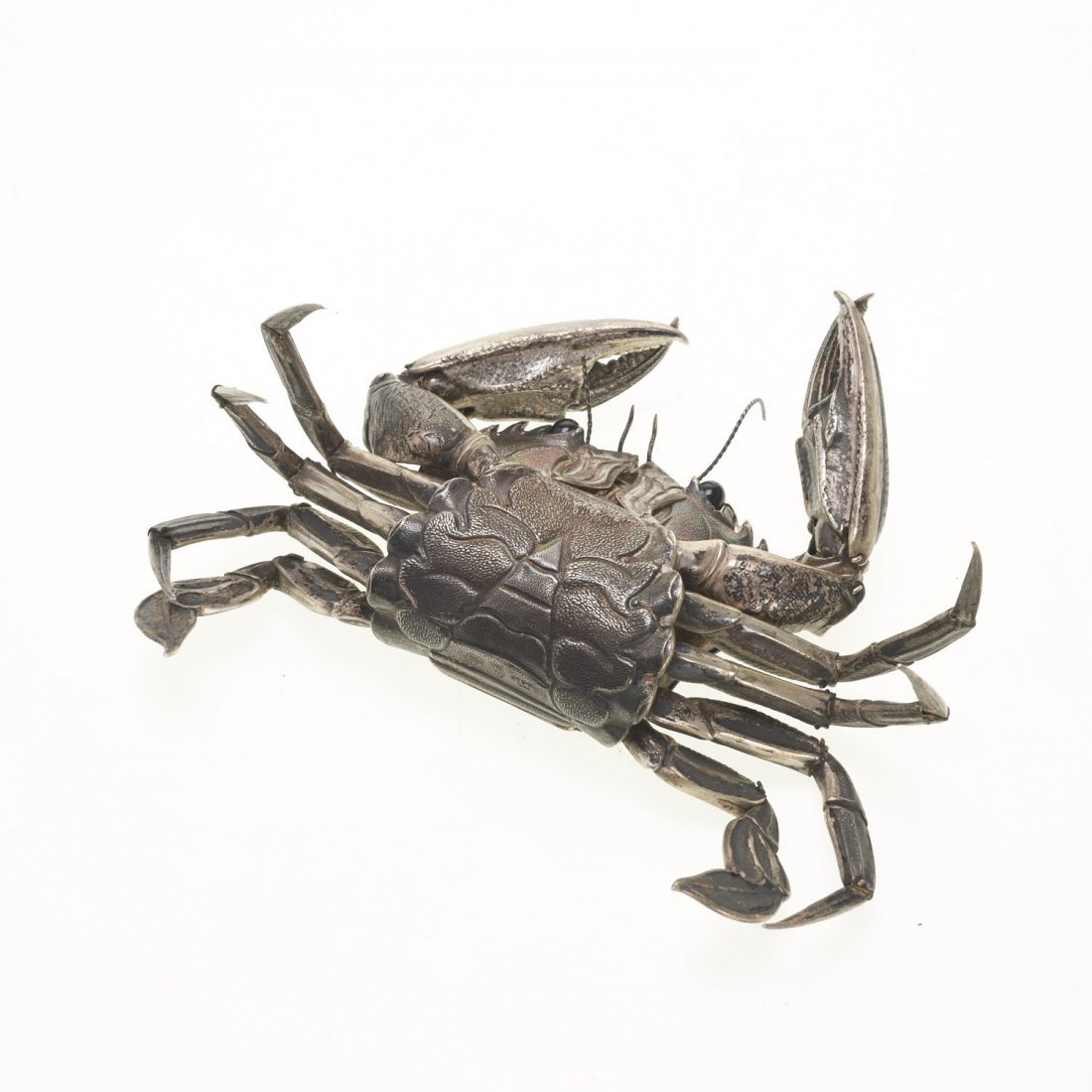 Spanish silver articulated model of a crab - 7