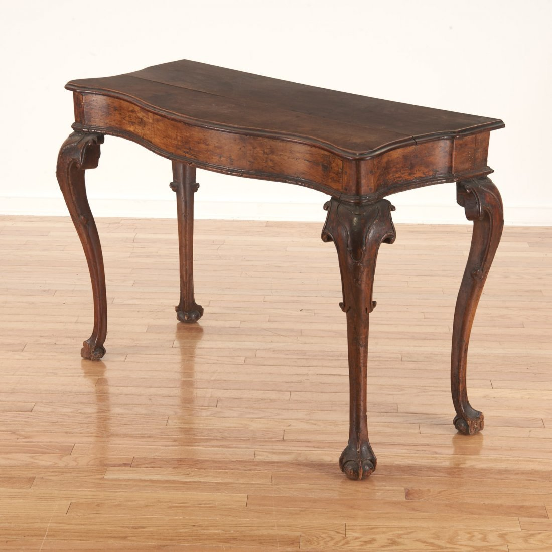 Antique Italian carved walnut console table - 5