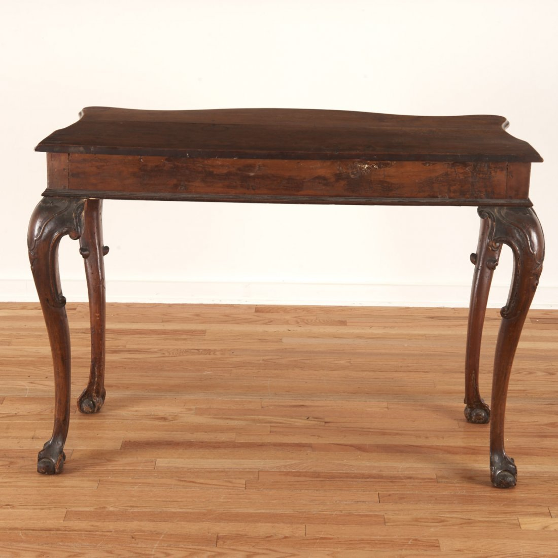 Antique Italian carved walnut console table - 7