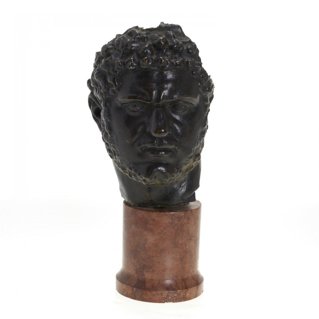 Italian School, patinated bronze bust