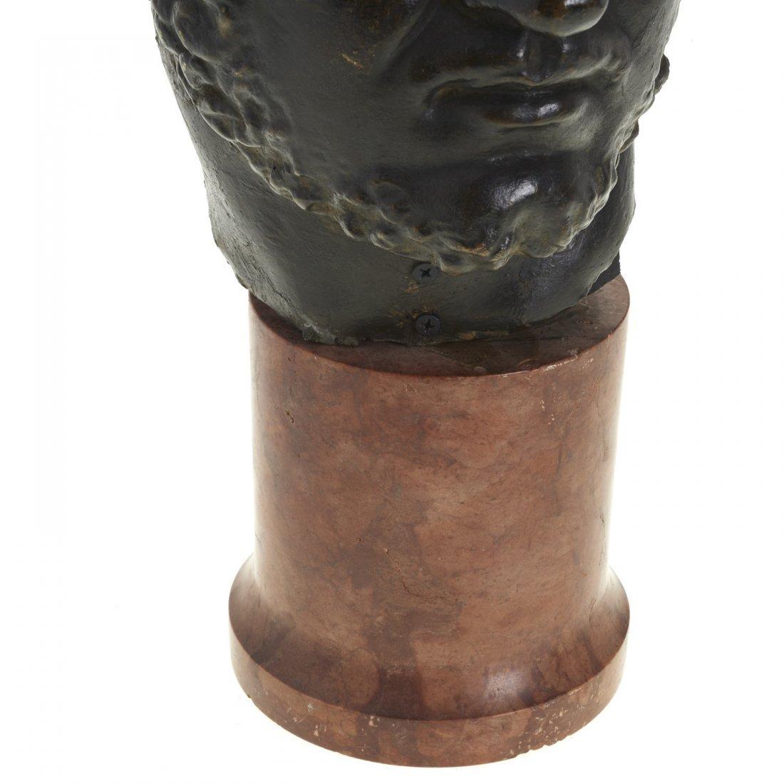 Italian School, patinated bronze bust - 2