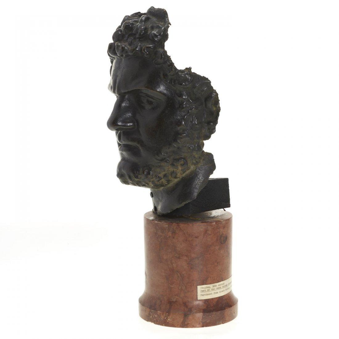 Italian School, patinated bronze bust - 7