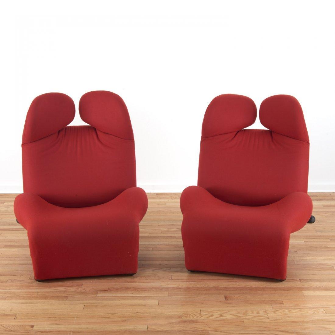 """Pair Toshiyuki Kita for Cassina """"Wink"""" chairs"""