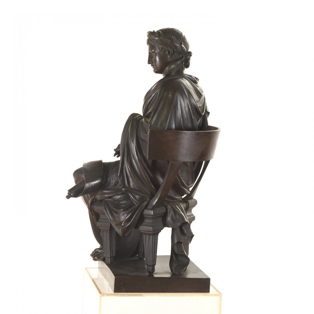 French Bronze figure of the poet Horace - 2
