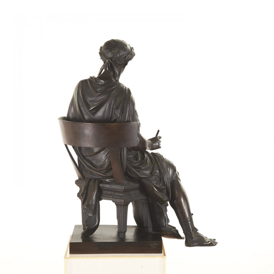 French Bronze figure of the poet Horace - 3