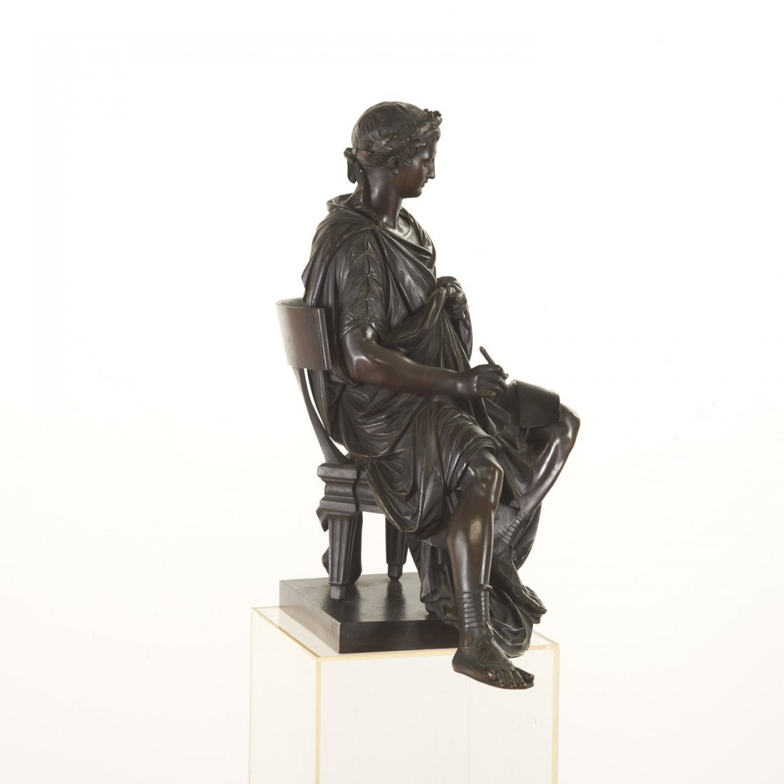 French Bronze figure of the poet Horace - 4